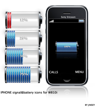 Iphone SignalBattery For W810i by Jinsey