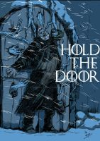 Hodor Hold The Door by mrinal-rai