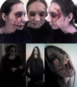 Hanako Ghost Makeup by imperiusunforgivable