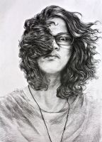 Selfie With A Pencil by aditida