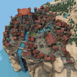 Skytown (3D model) by Alexi-C