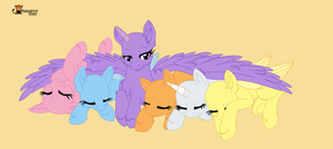 Mlp group sleeping base by Happyspoon