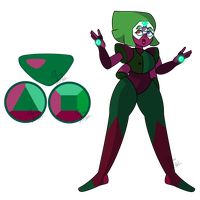 Anyolite ( Garnet/Peridot ) by Aaron-Goforth