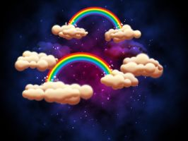 Rainbow Clouds by Shiray21