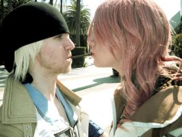 Pocky Game- Snow and Lightning by Lady-Redd