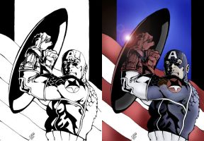 Ultimate Captain America by wetterink