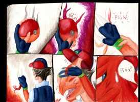 Ash to Charmeleon TF Commish 2 by Lucern7