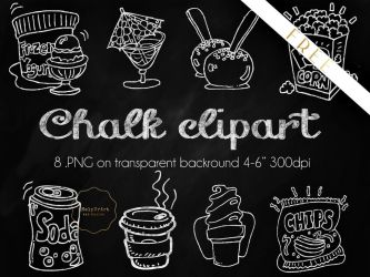 FREE Chalky Clipart .PNG by iCatchUrDream