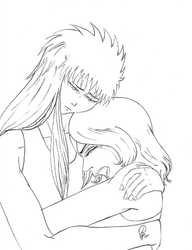 Let Me Cry Camus - Lineart by Phyrra