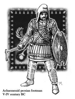 Persian foot soldier by Satapatis