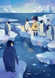 walking with penguins