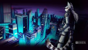 Alpha and the City Wallpaper by Kiaun