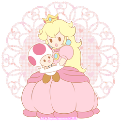 Peach and Toad by CoconCrash