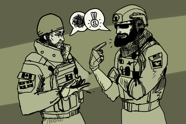 Battle of the Beards by Yikitama