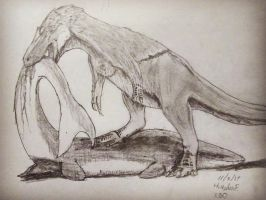 Dryptosaurus and Platecarpus Dinovember Day 3 by XStreamChaosOfficial