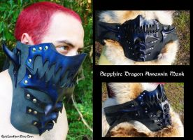 Sapphire Dragon Assassin Mask by Epic-Leather