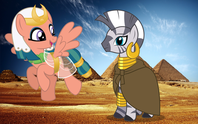 Somnambula and Zecora visit the Pyramids by 3D4D