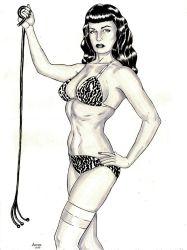 Betty Page by ANDREWCOTINGUIBA