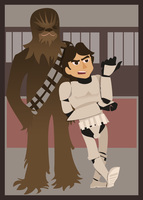 Han and Chewie by Hapo57