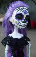 Custom Monster High Spectra 'Day of the Dead' 2 by AdeCiroDesigns