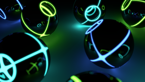 neon spheres by JoaoYates