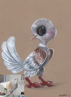 Quigley the Dove by Ducks-with-Crayons
