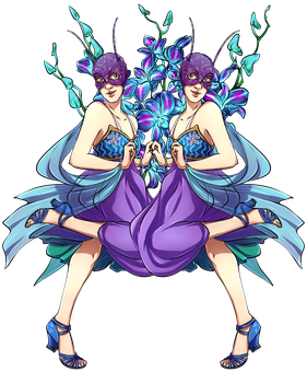 Dr Who Flowers - Orchids (Nyssa/Ann) by Yet-One-More-Idiot