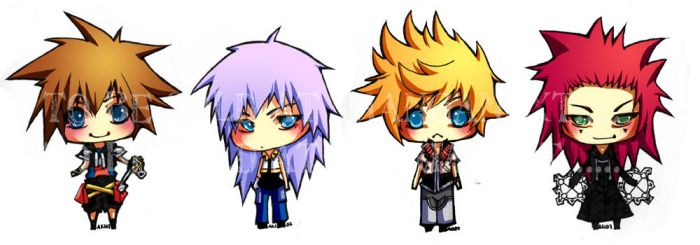Chibi Series: Kingdom  Heart by akiaki-chan