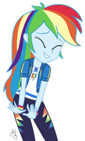 MLP EG Vector - Nervous Rainbow Dash by ilaria122