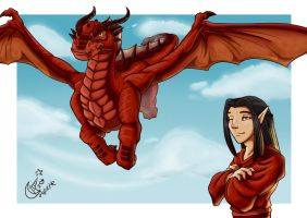 Red, the dragon by LadyRosse