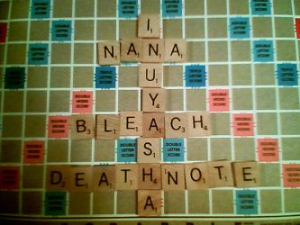 Anime on Scrabble by grifkuba