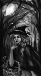 A Witch in the Woods by la-Structure-du-Ciel