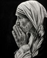 St. Teresa of Calcutta by brailynne