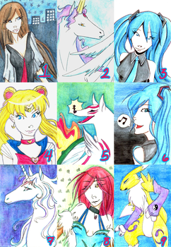 ATC Batch 1 by wingedpaintbrush