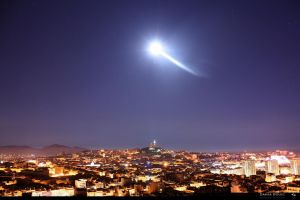 Moonlight over Marseille by SkyRings
