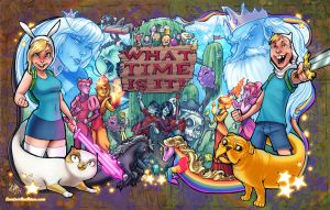 Adventure Time Epicness - final color! by ComfortLove