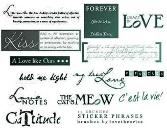 Phrase Brushes by lovetheories