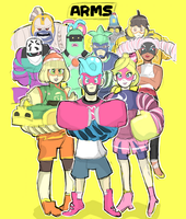 ARMS: Character Roster - Doodle by RamyunKing