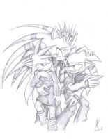2 Hedgies and 1 Porcupine by Psychograve
