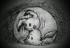 Forever alone: Mimikyu by mistyandsrperiorsart