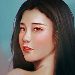 IU portrait by Lovelorn-Insanity
