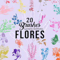 20 Vintage Flower Brushes by LionessEdits