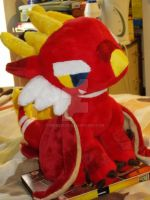 Commissioned dragon plush. by nightelfy