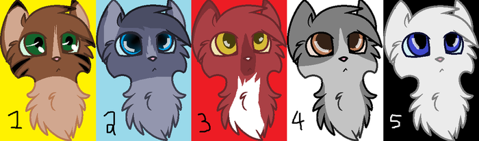 5 Adoptables [OPEN] by GrelliamFanRBLX