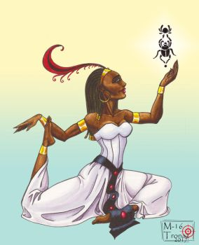 Egyptian dancer with scarab by M16Tronaz