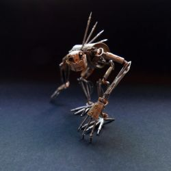 Articulated Watch Parts Creature 'Hex' by AMechanicalMind