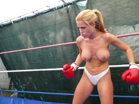 Boxing topless punished her tits shirts porn galleries