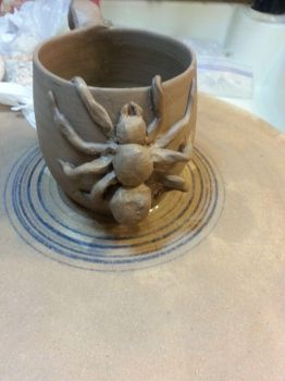 Spider Clay Mug 10 15 2014 by CorazondeDios