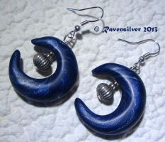 Moon Crescent Earring by Ravensilver
