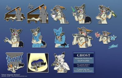 Ghost Telegram Stickers by sannamy